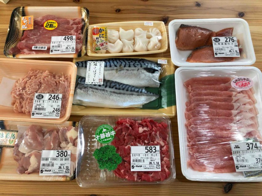 1週間で使う魚と肉をまとめ買いした
