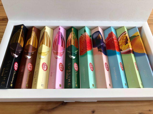 キットカット ショコラトリーセット商品の全種類の写真